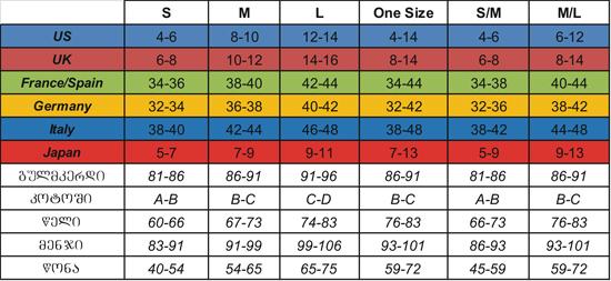 hustler sizes